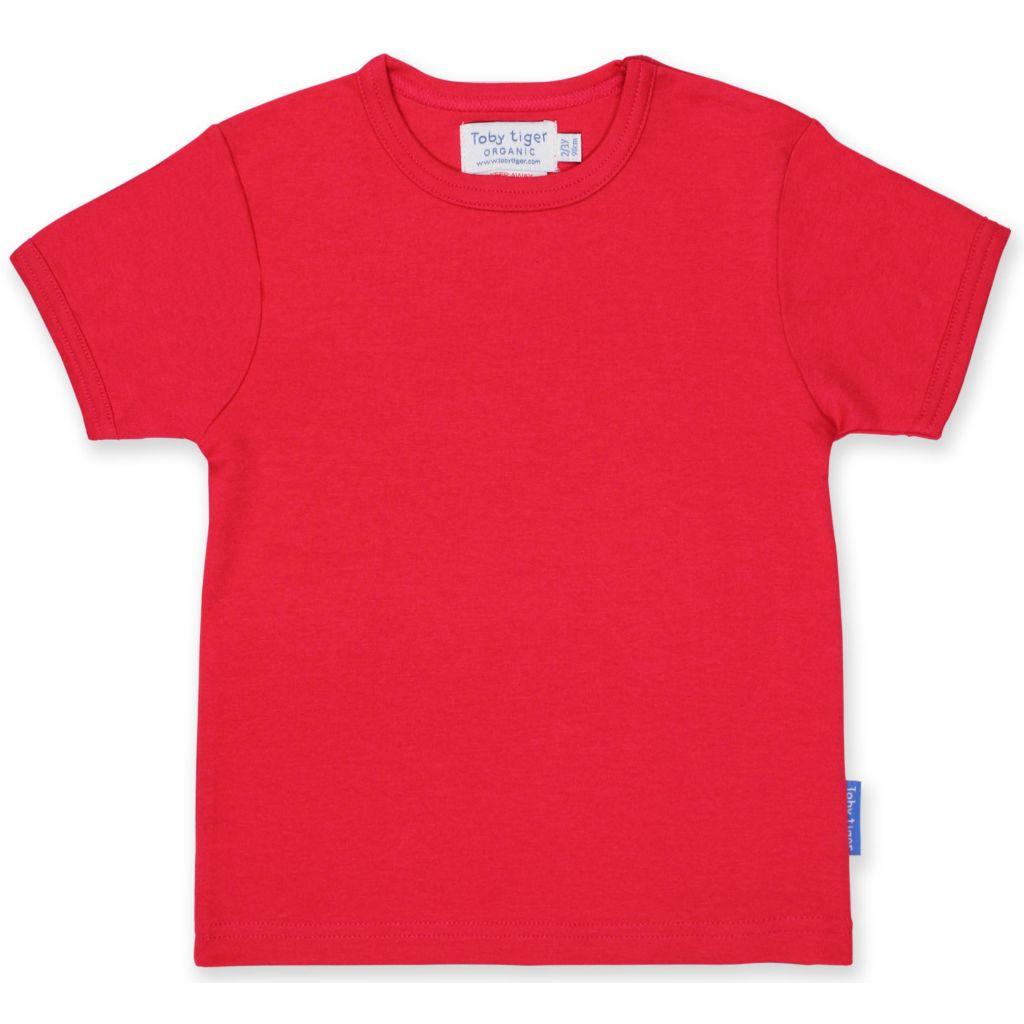 Organic Toby Tiger Red T Shirt