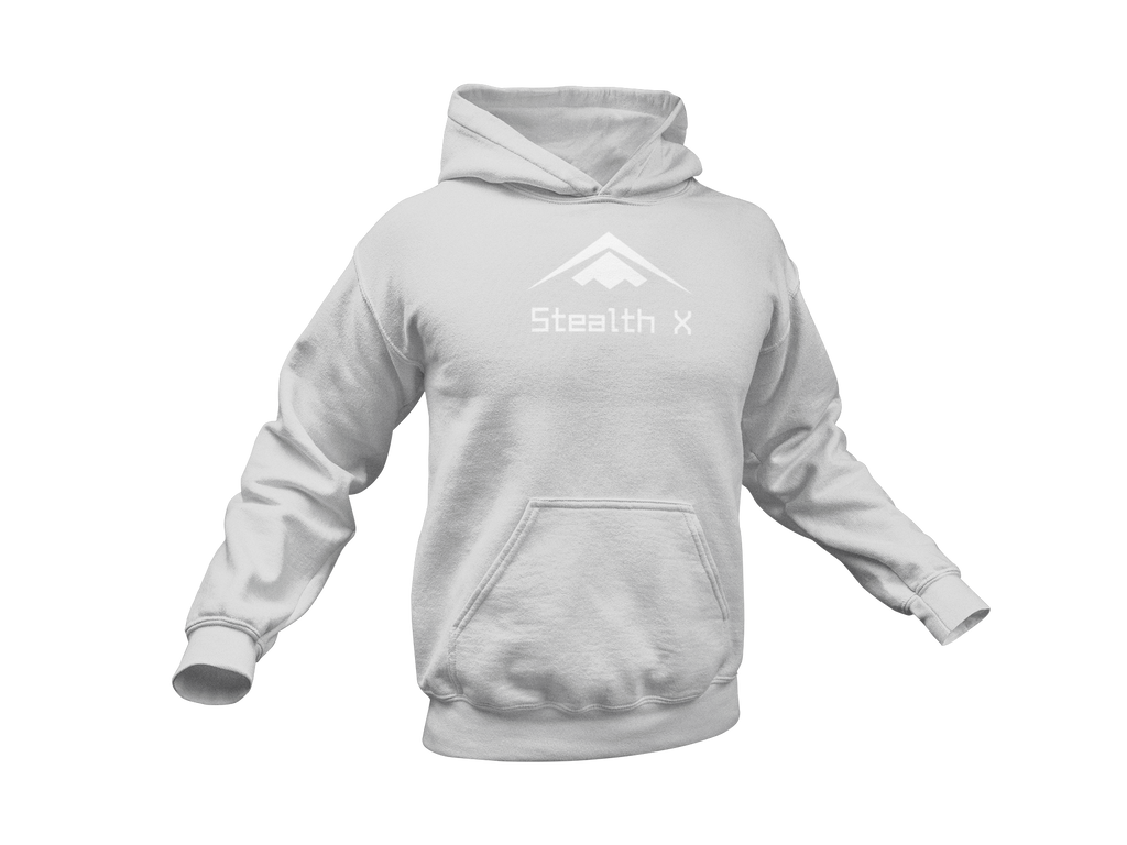 Sports Grey/White Stealth Hoodie