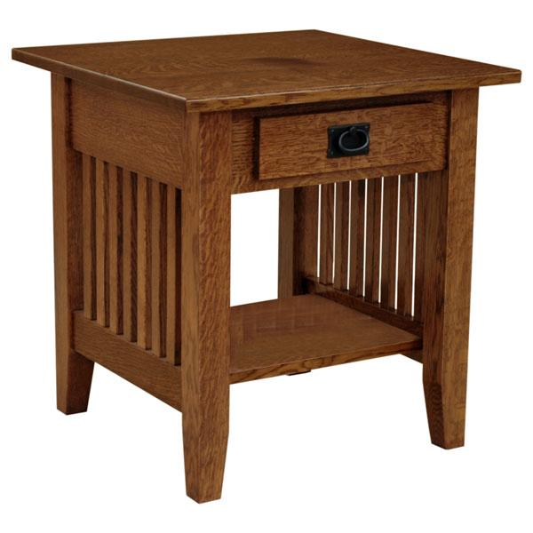 Prairie Mission End Table w/Drawer