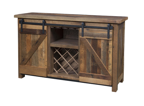 Barn Door Wine Sideboard
