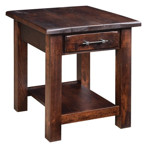 Barn Floor End Table