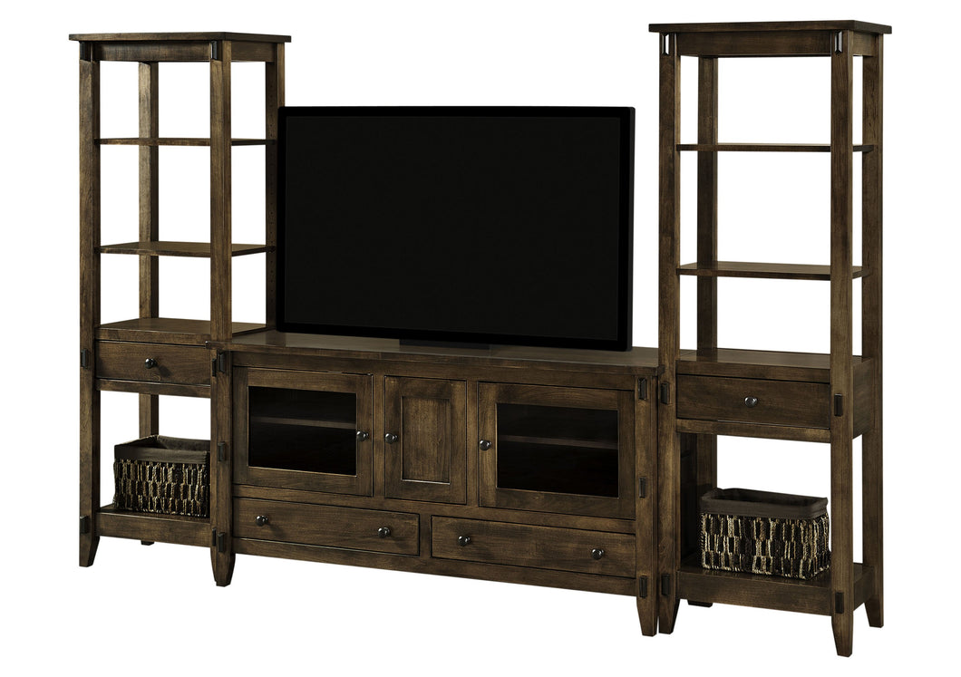Bungalow TV Stand w/Side Towers