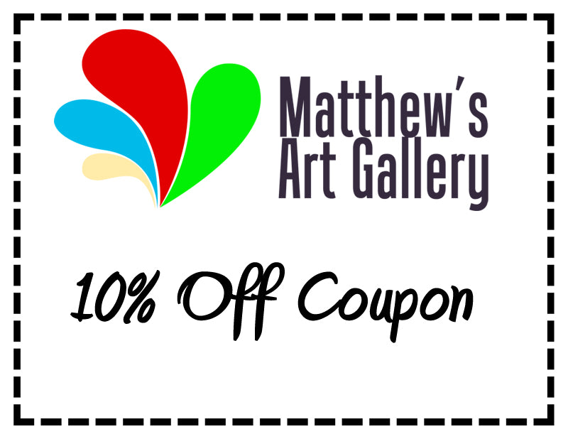 10% OFF on all orders of Metal Wall Art and Oil Paintings by Matthew's Art Gallery