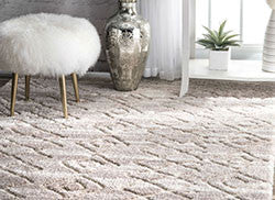 NuLOOM Vinita Moroccan Diamonds Shaggy Rug Light Beige