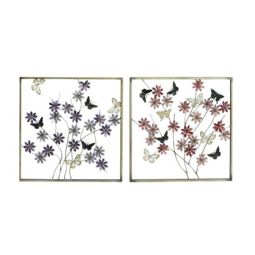 Gorgeous Metal Wall Decor 2 Assorted