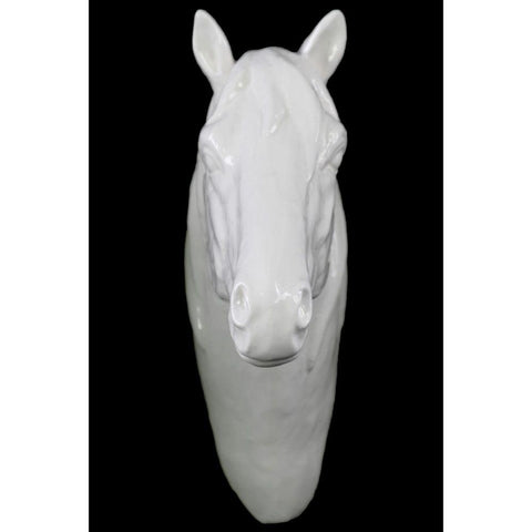 Horse Head Wall Decor Gloss Finish - White