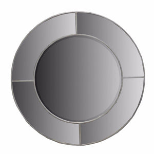 Contemporary Round Wooden Wall Decor, Gray