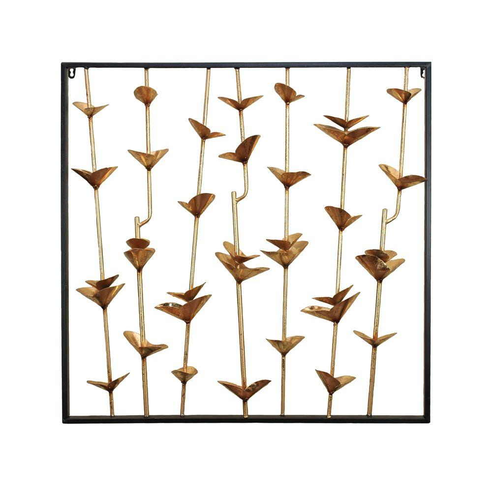 Creative Metal Wall Decor, Gold And Black