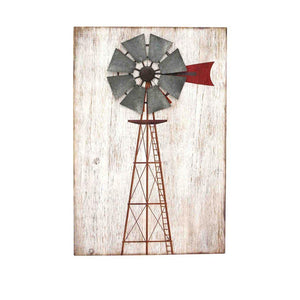 Elegant Wooden Windmill Wall Decor, Multicolor