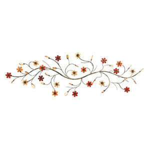Metal Wall Decor With Flowers Loaded Twig