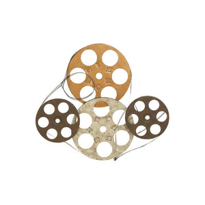 Metal Wall Decor Set Of Four Film Reels
