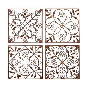 Metal Wall Decor Set Of 4 A Low Priced