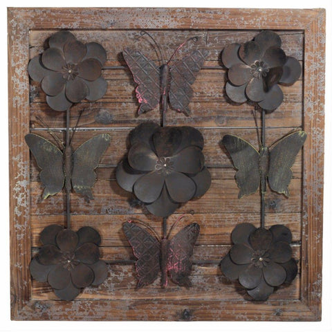 Rustically Charmed Wooden Wall Decor, Brown