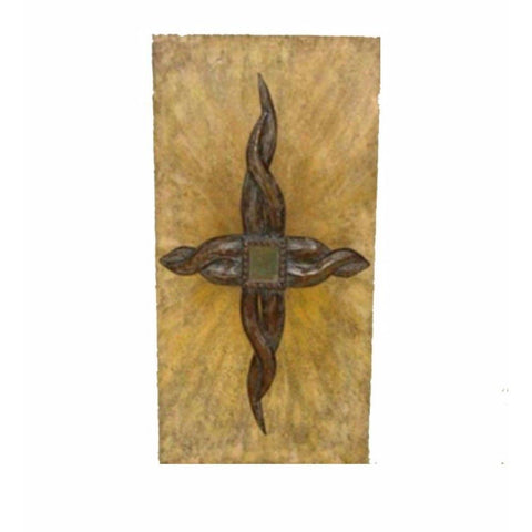Antiquely Charmed Metal Wall Decor, Brown