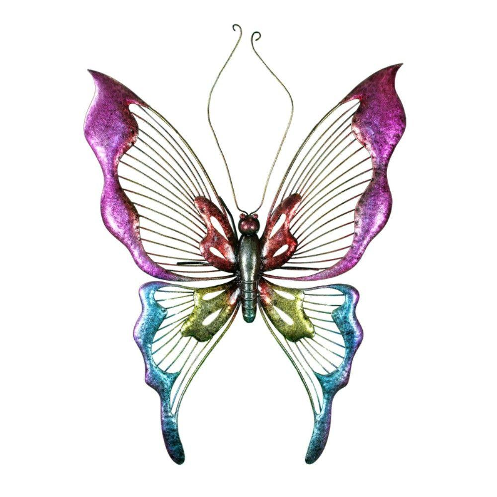 Metal Butterfly Wall Decor, Multicolor