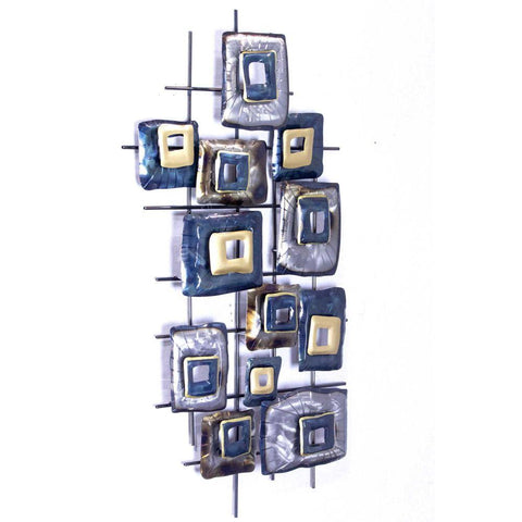 Clustered Rectangles Wall Decor - Metallic Multi Color