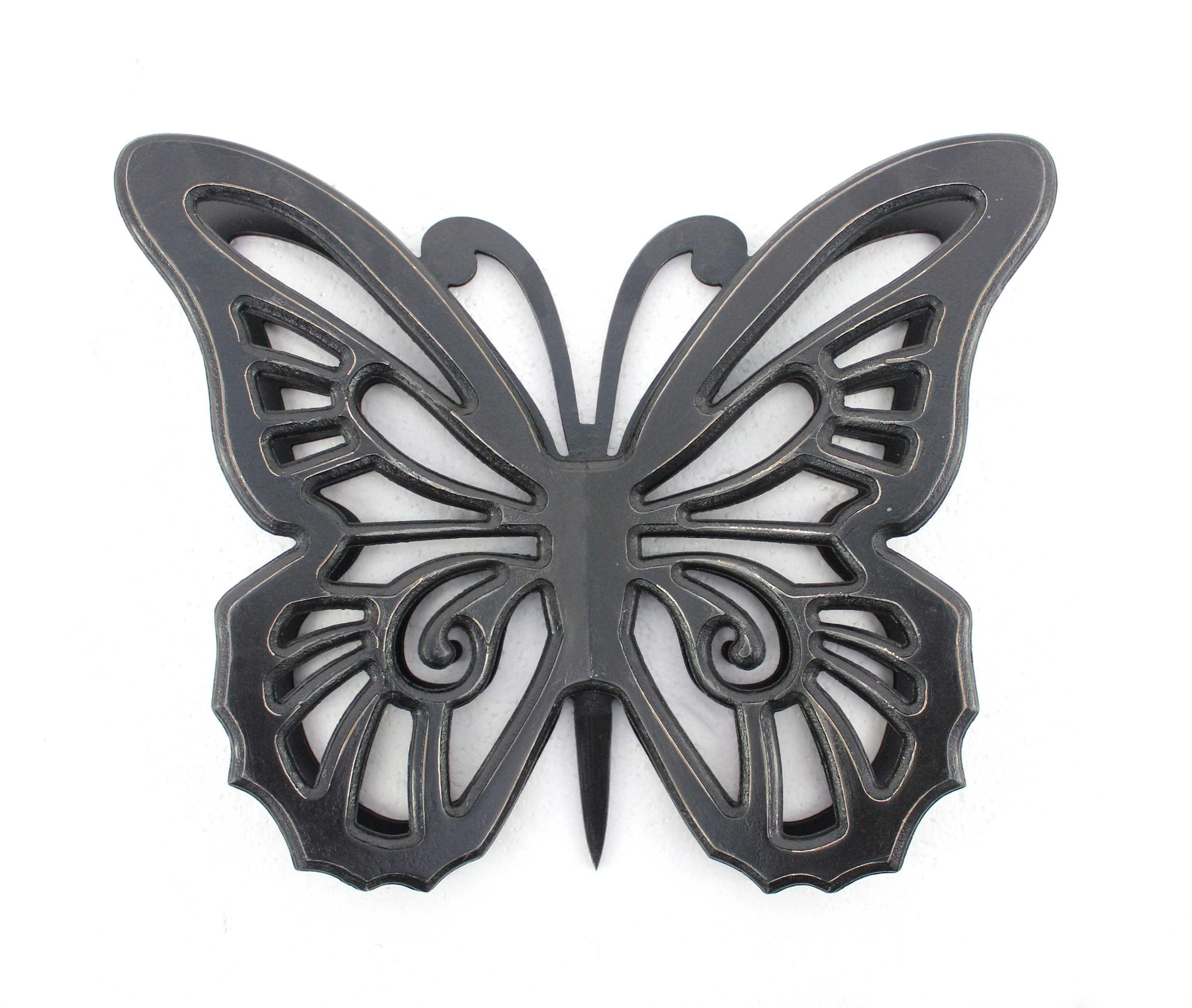 "4.25"" X 18.5"" X 23.25"" Black Rustic Butterfly Wooden Wall Décor"