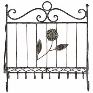 Old-Style Metal Wall Decor, Black
