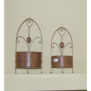 2 Piece Of Classic Metal Wall Decor, Gold