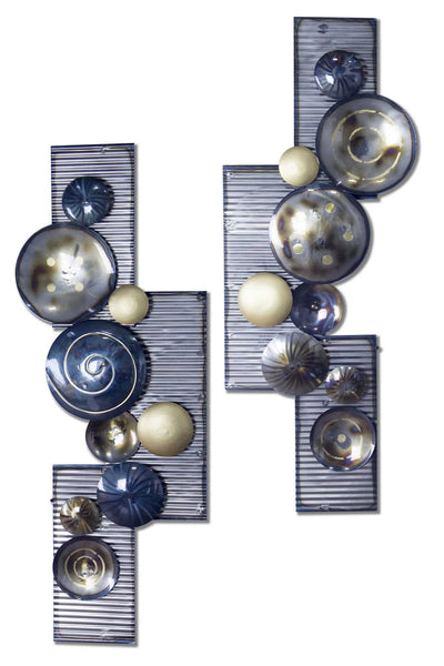 Floating Shapes Wall Decor - Metallic Multi Color