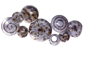 Clustred Metal Circles Wall Decor - Metallic Multi Color
