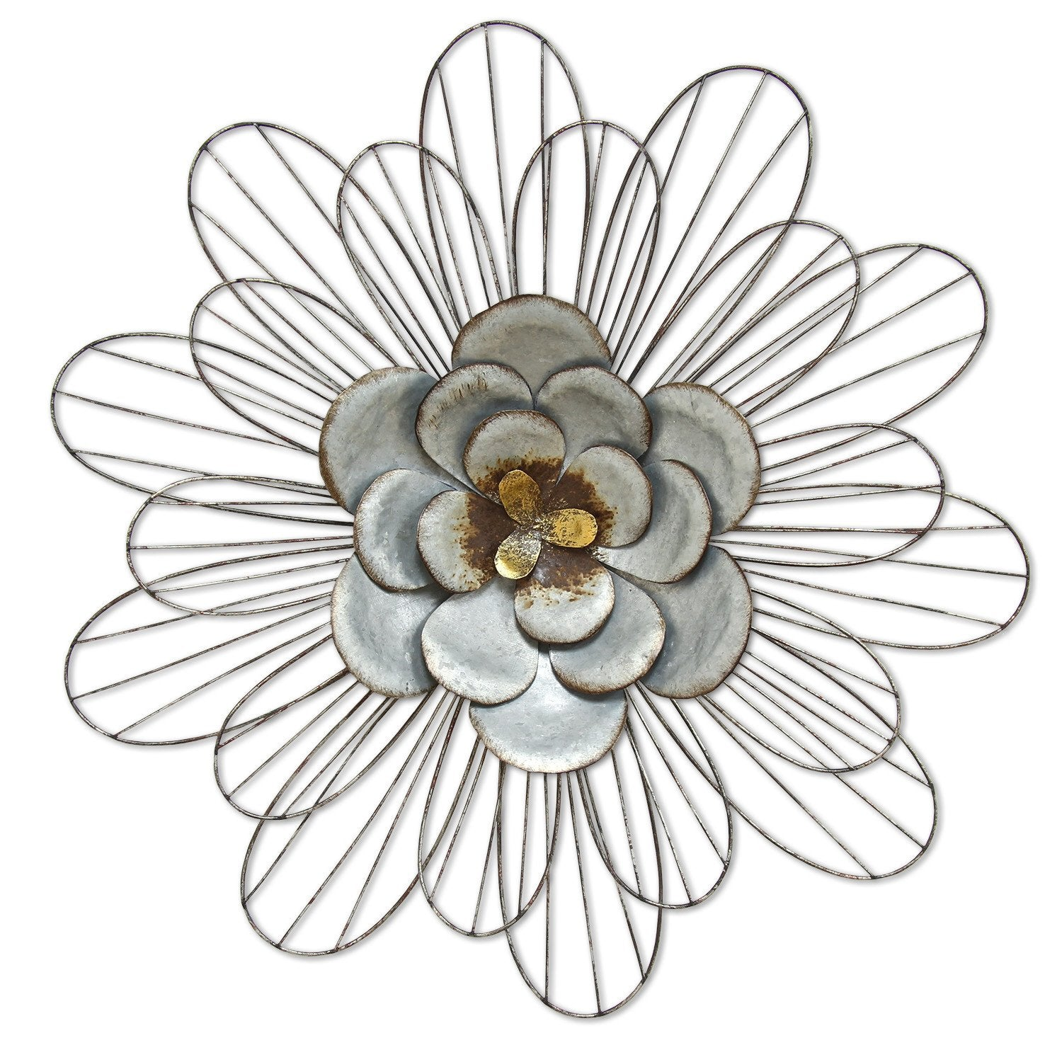 Silver Galvanized Daisy Wall Decor