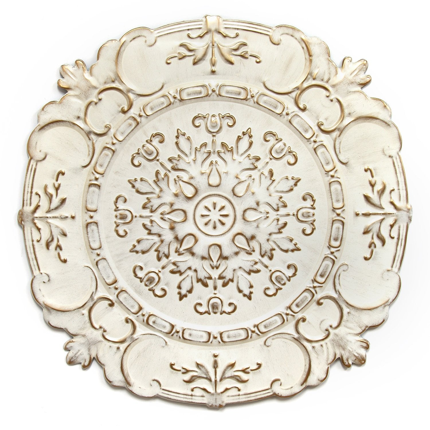 White Medallion Wall Decor Euro Style