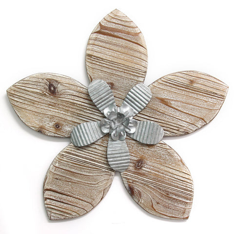 Farmhouse Chic Flower Wall Decor Hand Made