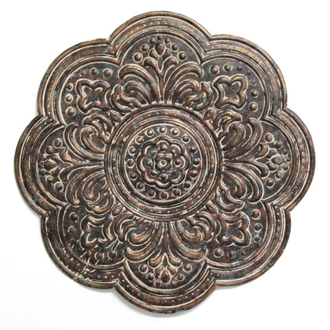 Brown Rustic Bronze Medallion Wall Decor