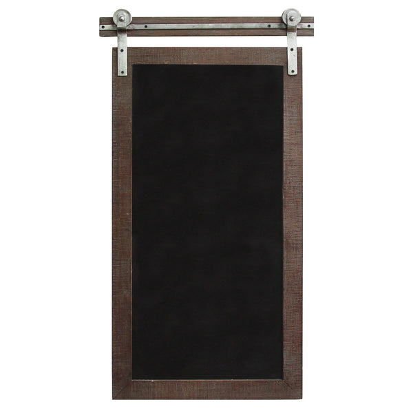 "16.75"" X 1.75"" X 31"" Dark Natural Wood Farmhouse Chalkboard Wall Decor"
