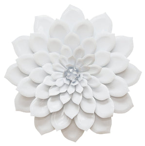 "19.88"" X 3.35"" X 19.88"" Layered White Flower Wall Decor"