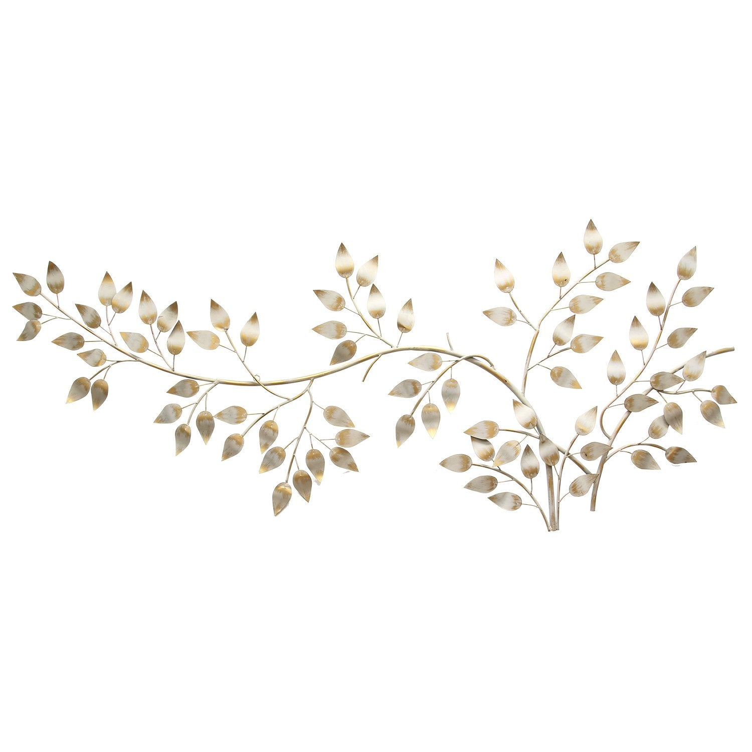 Gold Flowing Leaves Wall Decor