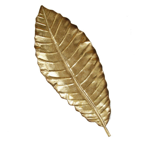 "8.46"" X 1.77"" X 21.06"" Gold Elegant Leaf Wall Decor"
