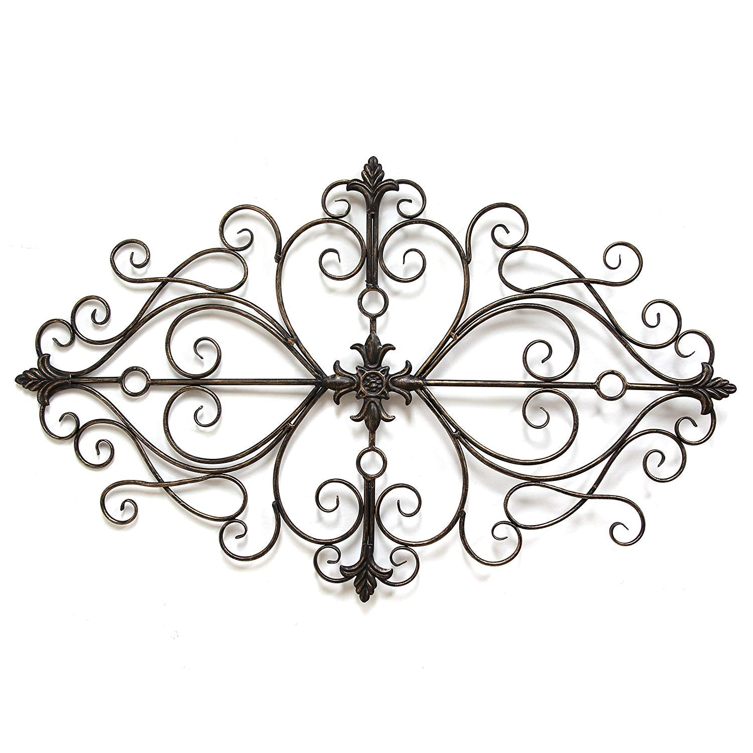 Black Metal Traditional Scroll Wall Decor