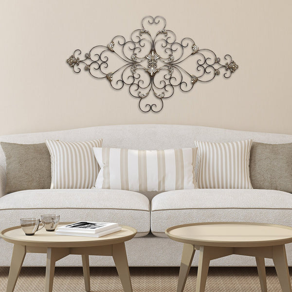 Champagne Ornate Scroll Wall Decor