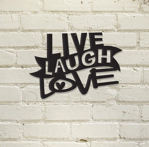 Live, Laugh, Love Metal Wall Art