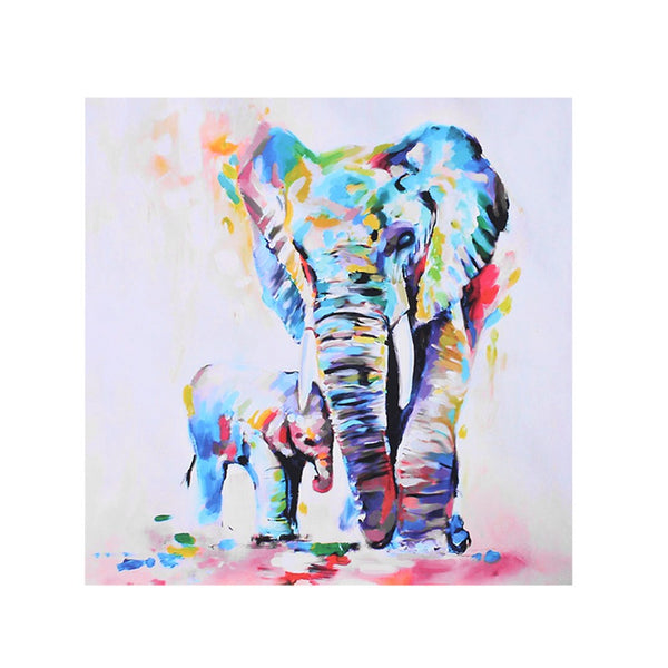 Printed Watercolor Elephant Canvas Painting