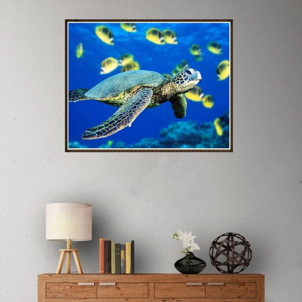 Sea Turtle Embroidery Cross Stitch Painting