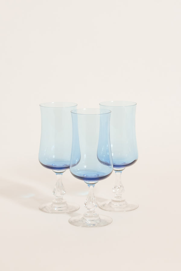 Pale Blue Flute Set of Three