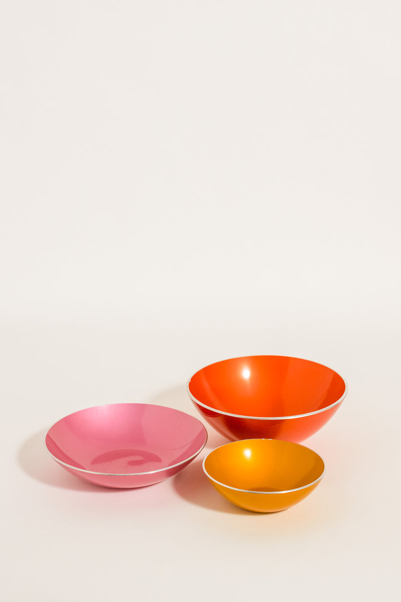 Mid Century Scandinavian Bowl Set of Three