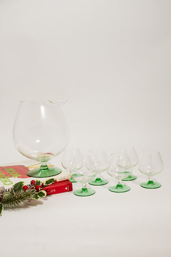 Emerald Green Base Pitcher Set