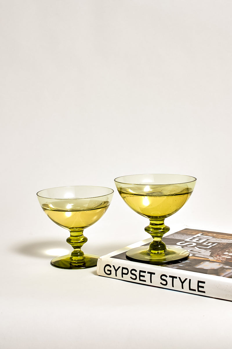 Olive Green Cocktail Glasses