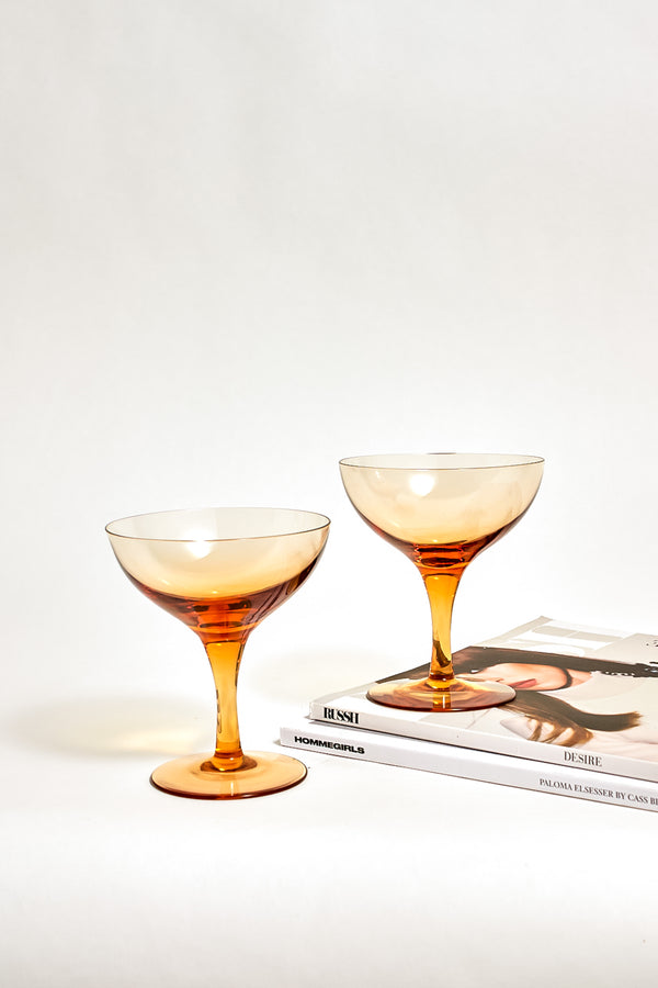 Amber Cocktail Glasses
