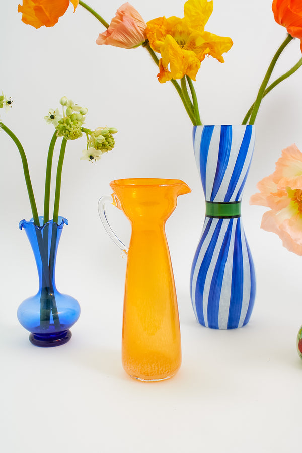 Mandarin Orange Pitcher Vase