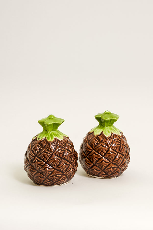 Hand Painted Pineapple Salt and Pepper Shakers