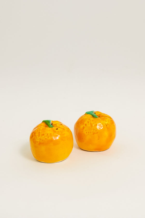 Hand Painted Orange Salt and Pepper Shakers