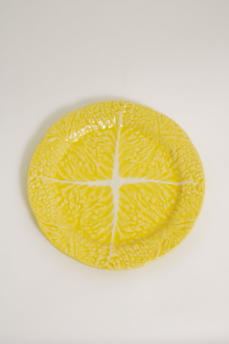 Yellow Cabbage Plates Set of Two