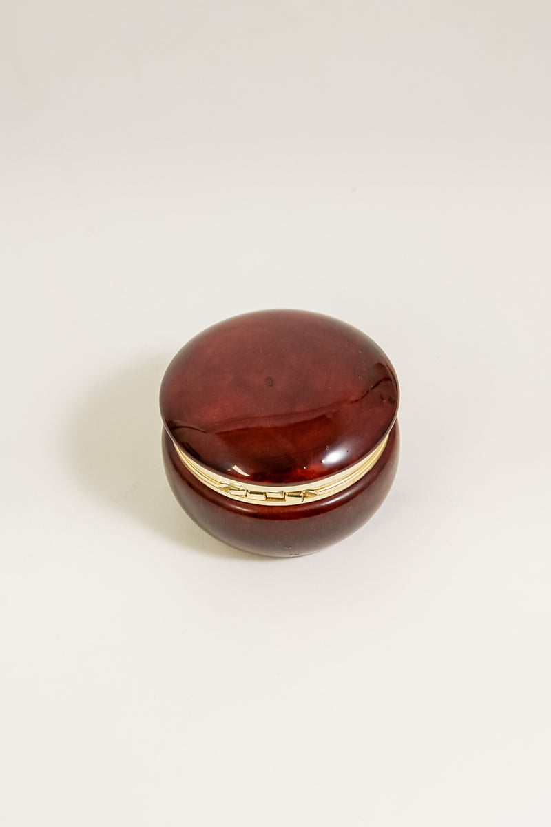 Burgundy Alabaster Box