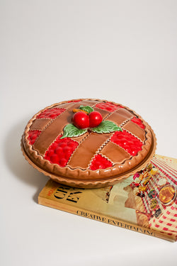 Ceramic Cherry Pie Dish
