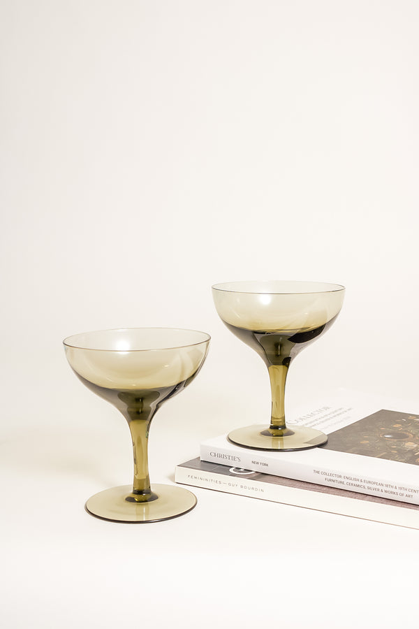 Smoky Cocktail Glasses